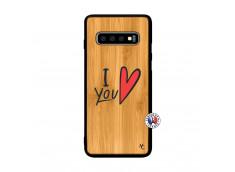 Coque Samsung Galaxy S10 I Love You Bois Bamboo