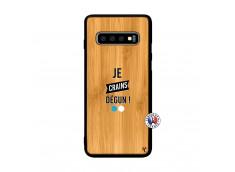 Coque Samsung Galaxy S10 Je Crains Degun Bois Bamboo