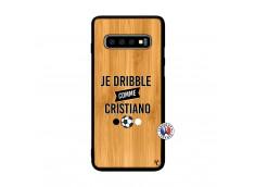 Coque Samsung Galaxy S10 Je Dribble Comme Cristiano Bois Bamboo