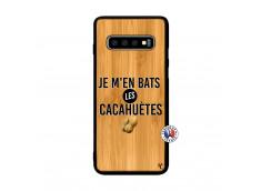 Coque Samsung Galaxy S10 Je M En Bas Les Cacahuetes Bois Bamboo