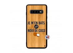 Coque Samsung Galaxy S10 Je m'en bats Les Noix De Coco Bois Bamboo