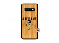 Coque Samsung Galaxy S10 Je M En Bas Les Olives Bois Bamboo