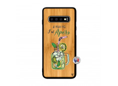 Coque Samsung Galaxy S10 Je peux pas J'ai Apéro Bois Bamboo