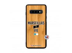 Coque Samsung Galaxy S10 Marseillais à Vie Bois Bamboo