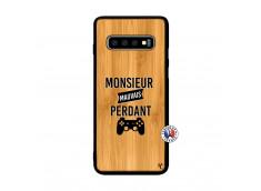 Coque Samsung Galaxy S10 Monsieur Mauvais Perdant Bois Bamboo