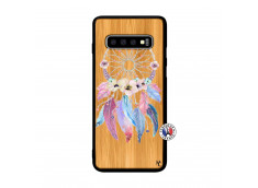 Coque Samsung Galaxy S10 Multicolor Watercolor Floral Dreamcatcher Bois Bamboo