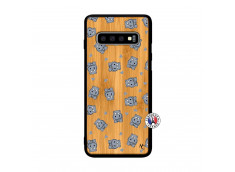 Coque Samsung Galaxy S10 Petits Hippos Bois Bamboo