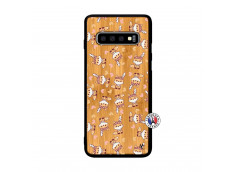 Coque Samsung Galaxy S10 Petits Renards Bois Bamboo