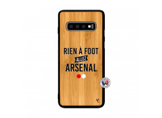 Coque Samsung Galaxy S10 Rien A Foot Allez Arsenal Bois Bamboo