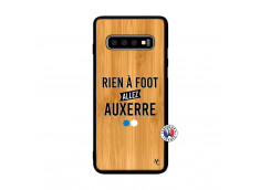 Coque Samsung Galaxy S10 Rien A Foot Allez Auxerre Bois Bamboo