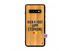 Coque Samsung Galaxy S10 Rien A Foot Allez L'Espagne Bois Bamboo