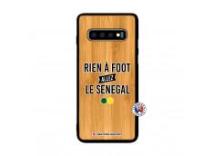 Coque Samsung Galaxy S10 Rien A Foot Allez Le Senegal Bois Bamboo