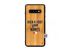 Coque Samsung Galaxy S10 Rien A Foot Allez Nimes Bois Bamboo
