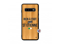 Coque Samsung Galaxy S10 Rien A Foot Allez St Etienne Bois Bamboo