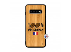 Coque Samsung Galaxy S10 100% Rugbyman Bois Bamboo