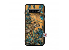 Coque Samsung Galaxy S10 Leopard Jungle Bois Bamboo