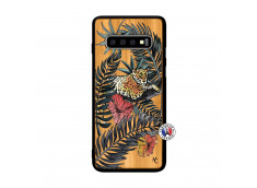 Coque Samsung Galaxy S10 Leopard Tree Bois Bamboo