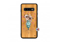 Coque Samsung Galaxy S10 Puppies Love Bois Bamboo