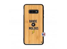 Coque Samsung Galaxy S10e Bandes De Moldus Bois Bamboo