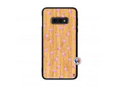 Coque Bois Samsung Galaxy S10e Flamingo