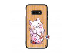 Coque Bois Samsung Galaxy S10e Smoothie Cat