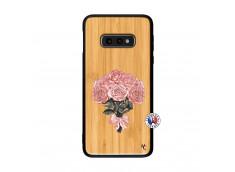 Coque Samsung Galaxy S10e Bouquet de Roses Bois Bamboo