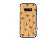 Coque Samsung Galaxy S10e Cactus Pattern Bois Bamboo