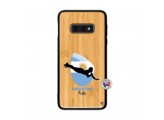Coque Samsung Galaxy S10e Coupe du Monde Rugby-Argentine Bois Bamboo