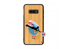 Coque Samsung Galaxy S10e Coupe du Monde Rugby Fidji Bois Bamboo