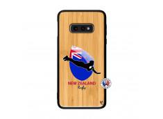 Coque Samsung Galaxy S10e Coupe du Monde Rugby- Nouvelle Zélande Bois Bamboo