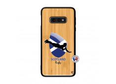Coque Samsung Galaxy S10e Coupe du Monde Rugby-Scotland Bois Bamboo