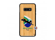 Coque Samsung Galaxy S10e Coupe du Monde Rugby-South Africa Bois Bamboo