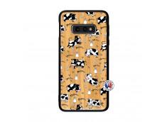 Coque Samsung Galaxy S10e Cow Pattern Bois Bamboo