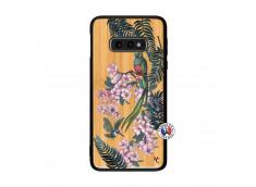 Coque Samsung Galaxy S10e Flower Birds Bois Bamboo