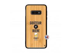 Coque Samsung Galaxy S10e Gouteur De Biere Bois Bamboo