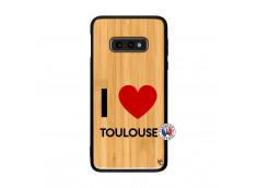 Coque Samsung Galaxy S10e I Love Toulouse Bois Bamboo