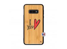 Coque Samsung Galaxy S10e I Love You Bois Bamboo