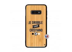 Coque Samsung Galaxy S10e Je Dribble Comme Cristiano Bois Bamboo