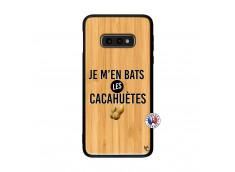 Coque Samsung Galaxy S10e Je M En Bas Les Cacahuetes Bois Bamboo