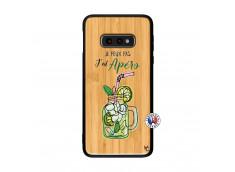 Coque Samsung Galaxy S10e Je peux pas J'ai Apéro Bois Bamboo