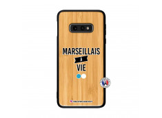 Coque Samsung Galaxy S10e Marseillais à Vie Bois Bamboo