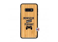 Coque Samsung Galaxy S10e Monsieur Mauvais Perdant Bois Bamboo