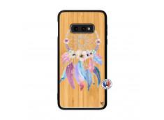 Coque Samsung Galaxy S10e Multicolor Watercolor Floral Dreamcatcher Bois Bamboo