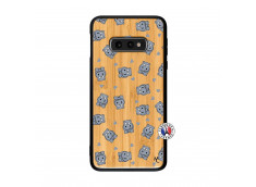 Coque Samsung Galaxy S10e Petits Hippos Bois Bamboo