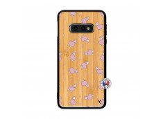 Coque Samsung Galaxy S10e Petits Moutons Bois Bamboo