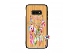 Coque Samsung Galaxy S10e Pink Painted Dreamcatcher Bois Bamboo
