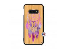 Coque Samsung Galaxy S10e Purple Dreamcatcher Bois Bamboo