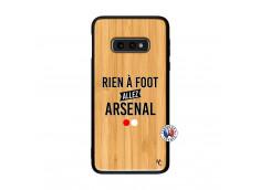 Coque Samsung Galaxy S10e Rien A Foot Allez Arsenal Bois Bamboo