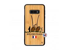 Coque Samsung Galaxy S10e 100 % Rugbyman Entre les Poteaux Bois Bamboo
