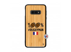 Coque Samsung Galaxy S10e 100% Rugbyman Bois Bamboo